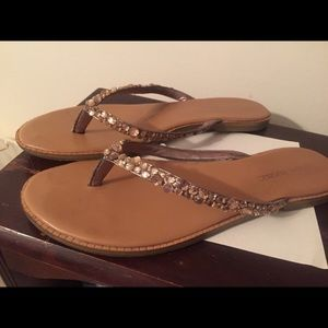 Banana republic gold sandal